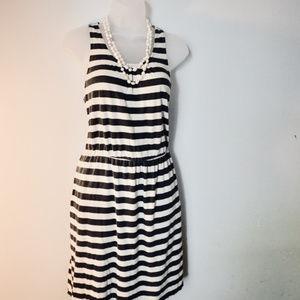 LOFT Ann Taylor Summer Striped Dress, M